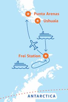 Antarctica 21 Express Air-Cruise Ushuaia