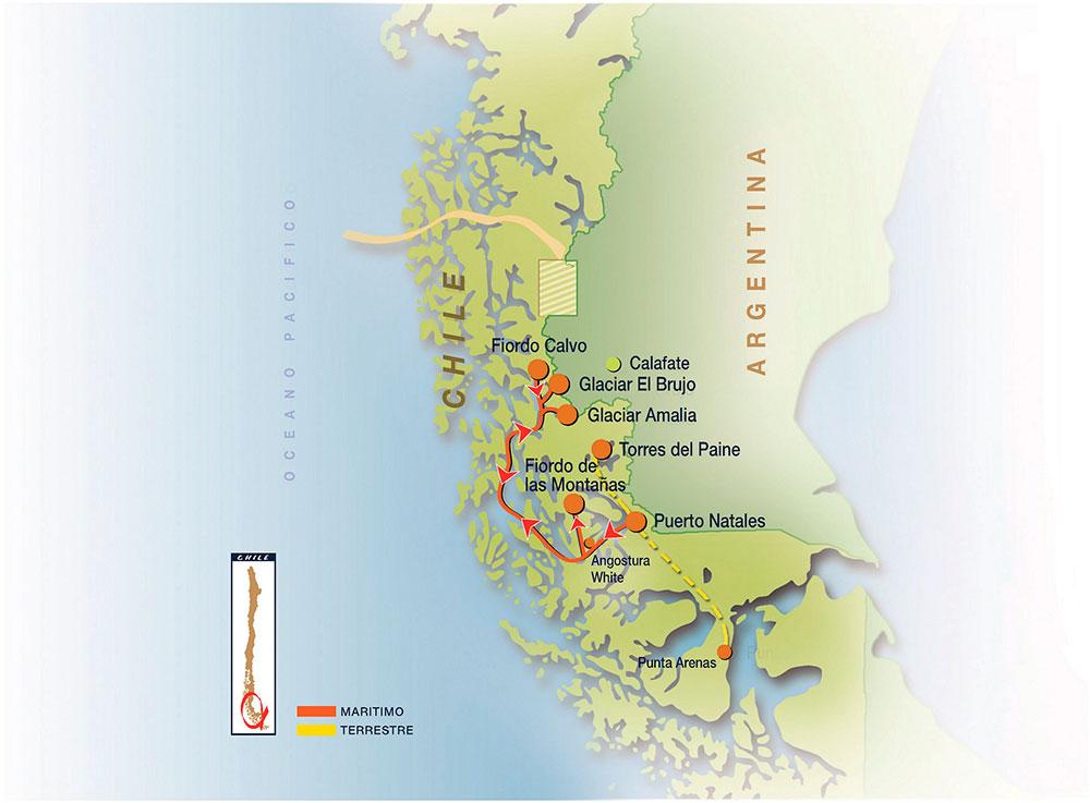 Skorpios Cruise Kaweskar Route