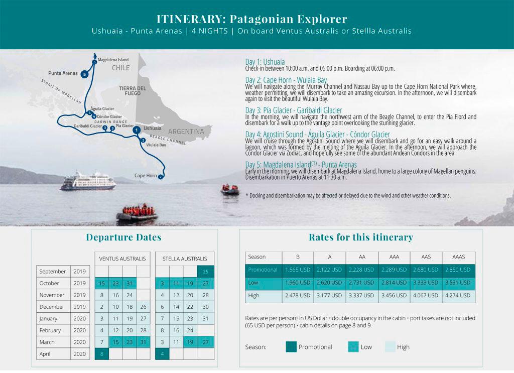 Australis Patagonian Explorer Cruise Ushuaia Punta Arenas